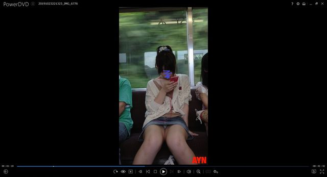 pcolle 帰ってきたayn 電車でパンツを見せ続けるJD
