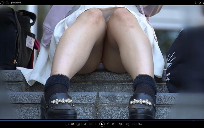pcolle fmg ぱんつ汚れてるよ!!*黒髪女子*おすわりぱんちゅ*丸見え