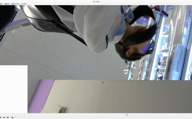 pcolle ppz改 顔出し制服J●[4K高画質]すごい美◯女の純白パンティーのガン撮りに成功!!