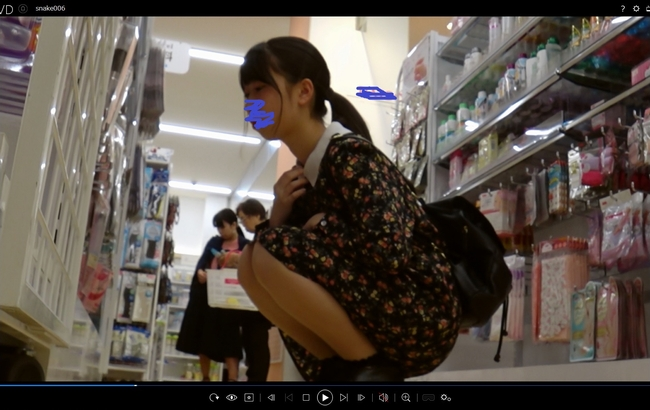 pcolle snake 新カメラ採用003【清楚な黒ワンピのJK】