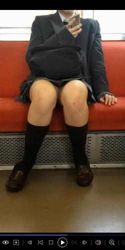 pcolle tc [顔出し][フルHD]超かわいいJKのピンクパ○ツ[アップあり]電車からの風景~