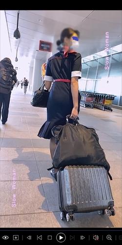 pcolle slowwoman【絶品】魅惑のCAさんSP22☆貴重ストック映像!半袖デカ尻パンチラに悶絶^ ^
