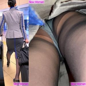 pcolle slow woman【超貴重品】魅惑のCAさんSP7☆念願のエアライン!粘着の末にPゲット^ ^