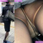 【Pcolle Slow Womanさん レビュー】魅惑のCAさんSP1☆帰宅中のPをじっくり観察!大胆なTバックに悶絶^ ^