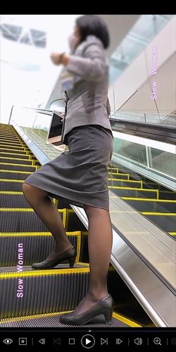 pcolle slowwoman 【超絶品】魅惑のCAさんSP19☆エスカでの欲情ポーズに唖然!純白Pで大悶絶^ ^