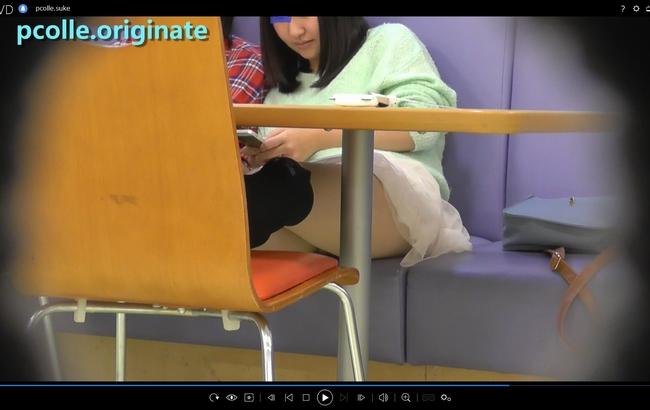 pcolle orignate 透け感スカートからちらちら~動画~