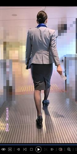 pcolle slow woman 【絶品】魅惑のCAさんSP36☆長身美尻の局部に染み発見!黒スト光沢具合に悶絶^ ^