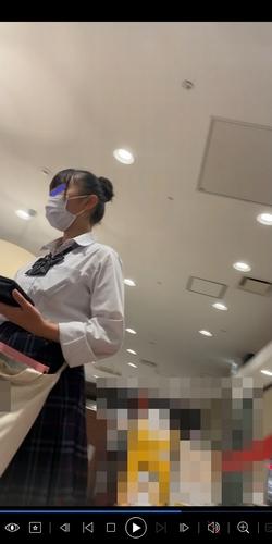 pcolle カレリア 重ね履きJK 白レース 女子高生