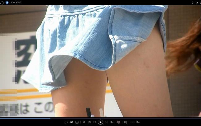 pcolle アイドル予備軍 風にも負けず、スカートひらり