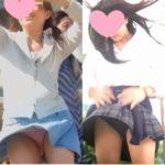 【Pcolle アイドル予備軍さん レビュー】風にも負けず、スカートひらり