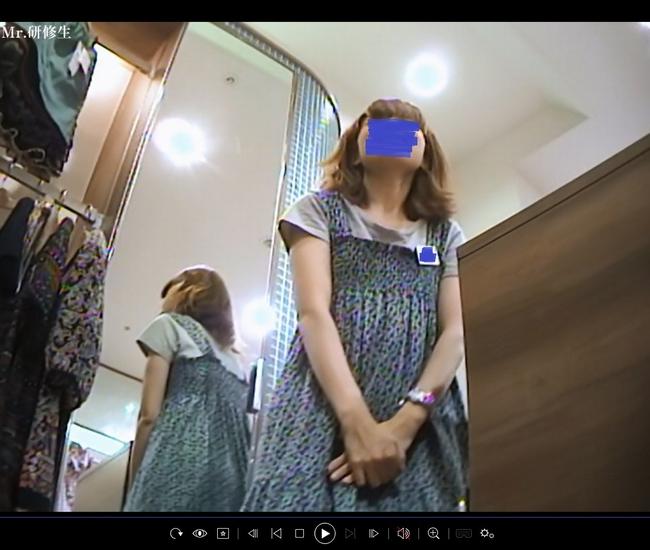 pcolle mr研修生 152 8分 店員さん ヒョウ柄パンツ