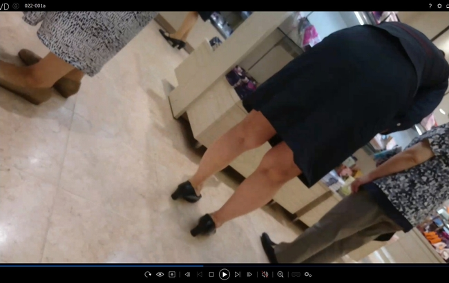 pcolle チラリズム 【危険なおバカ企画】働くお姉さん22 百貨店店員 ~履いてるのか履いてないのかはっきりさせます2連発~ バレたら逃げよう!