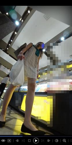 pcolle ピーコレ パンチラえんじぇる 新フルHD高画質パンチラ逆さ撮り246 セクシー&クールビューティー美少女が魅せるホワイトパンティーと尻と背中まで!