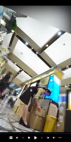 pcolle ピーコレ パンチラえんじぇる 新フルHD高画質パンチラ逆さ撮り250 独特のコスチューム店員さんのお仕事!屈み&大開脚連発!